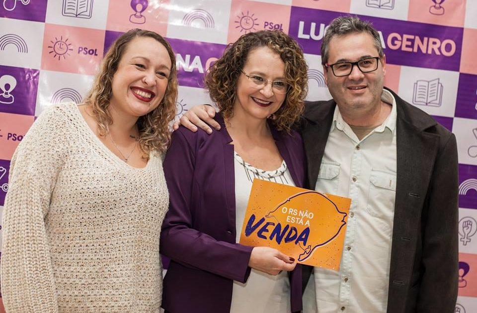 Com participação de Roberto Robaina, Luciana Genro lança pré-candidatura a deputada estadual