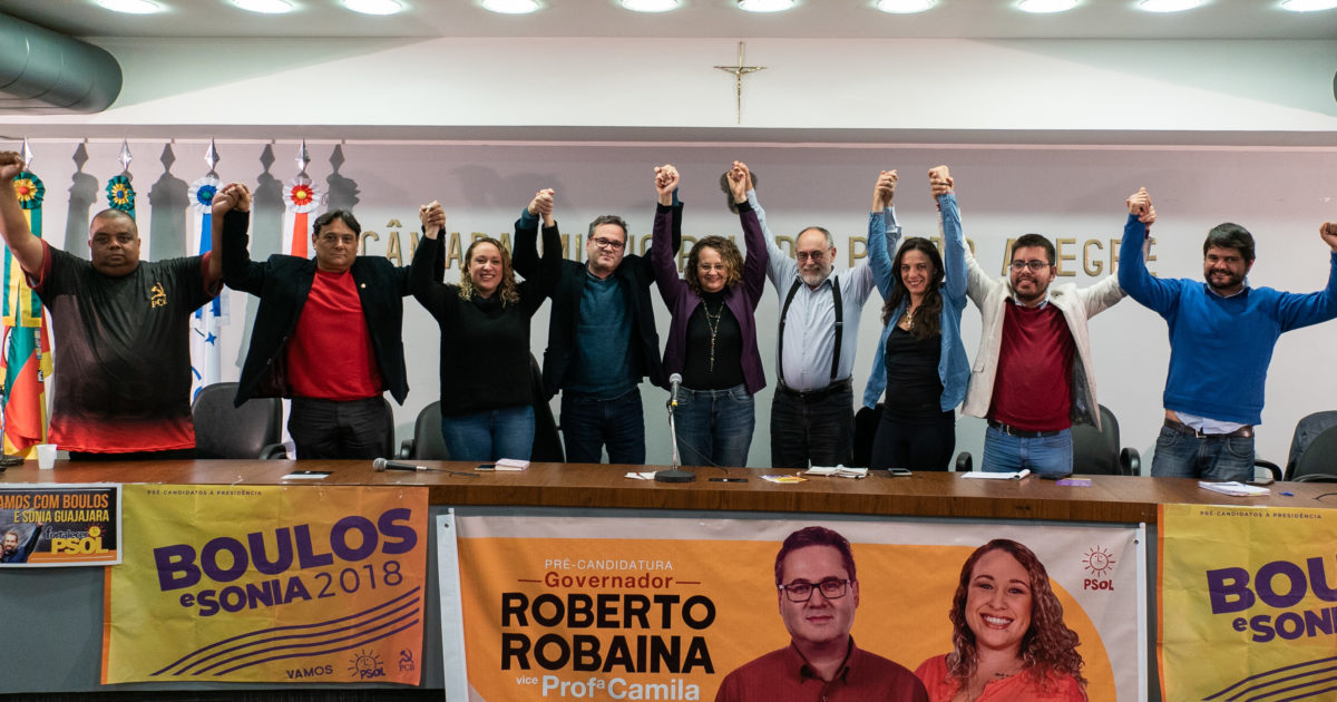 Convenção do PSOL lança Roberto Robaina e Professora Camila ao governo do estado