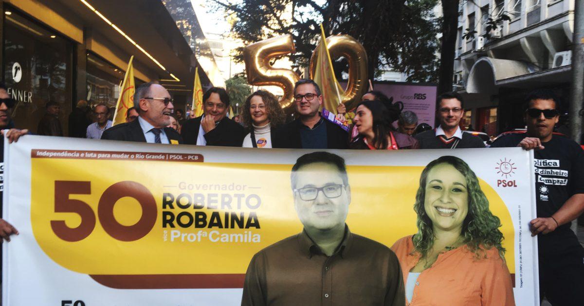 Robaina e candidatos da coligação PSOL-PCB dão início à campanha nas ruas