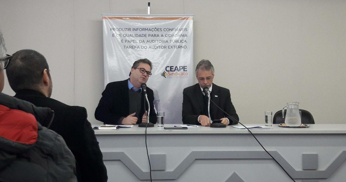 """Robaina no CEAPE Sindicato: """"Indicações para o Tribunal de Contas devem ser indicações cidadãs"""""""