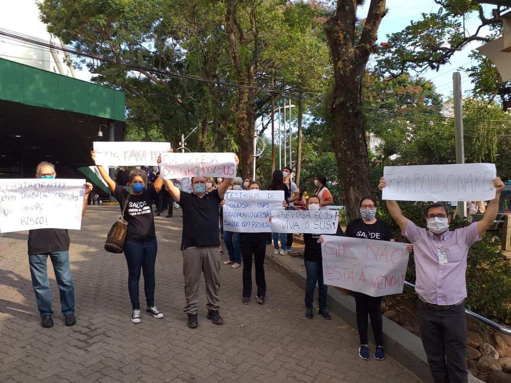 Não se pode privatizar o GHC. Defesa do SUS urgente!