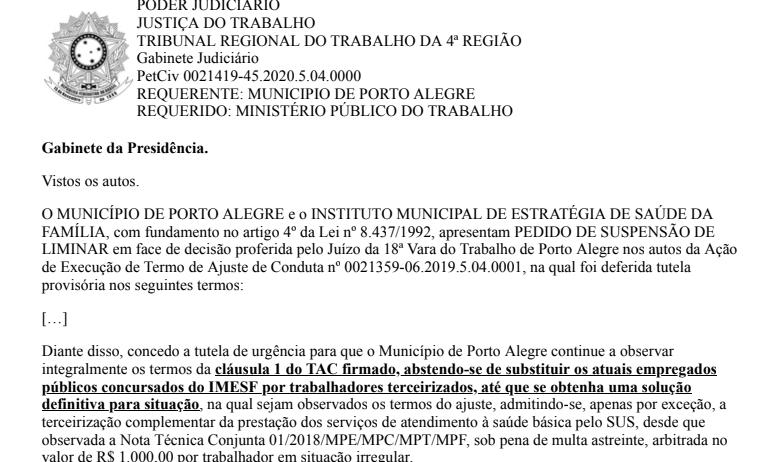 Decisão judicial permite nova esperança para trabalhadores do IMESF